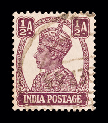 INDIA postage stamp - circa 1940: King George VI