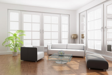 3d render a modern living room