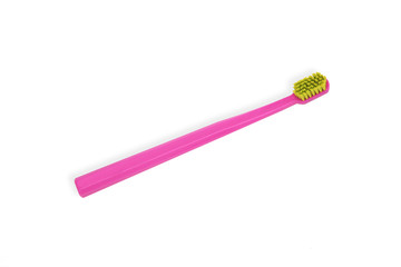 isolated pink toothbrush