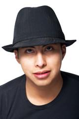 Young Man Wearing Black Hat