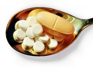 Pills on a teaspoon