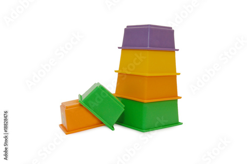 Children colour pyramid isolated on white background