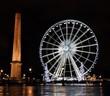 Leinwanddruck Bild - Ferris wheel on the Concorde square