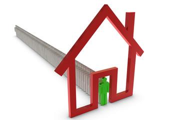 3D Haus symbol