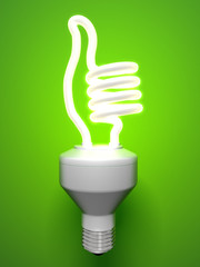 Thumbs Up Compact Fluorescent Lamp