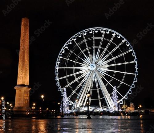 Leinwanddruck Bild Ferris wheel on the Concorde square