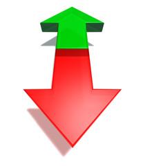 arrows opposit direction