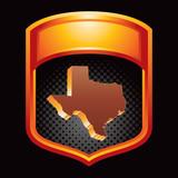 texas state orange display poster
