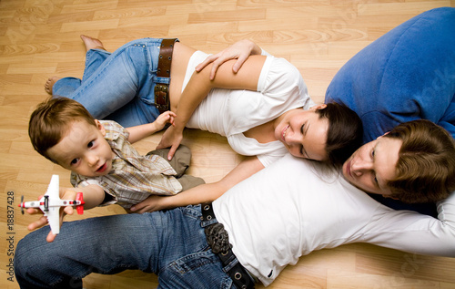 Family on a floor