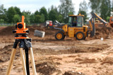 theodolite at construction site - 18839226