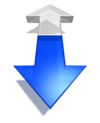 arrows opposit direction blue