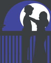 couples in moonlight