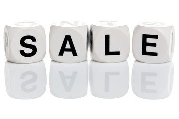 Sale in alphabet blocks