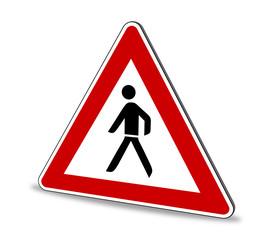 Fußgänger Schild 3D