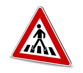 Fußgängerüberweg Schild 3D