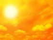 Orange sky and sun