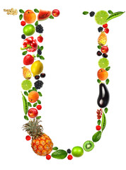 "Fruit and vegetables lettre ""U"""