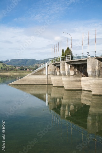 Poster Dam dam in reservoir