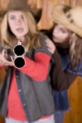 girls with shotgun pointied mad