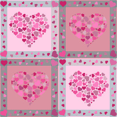 Seamless Valentine pattern with hearts
