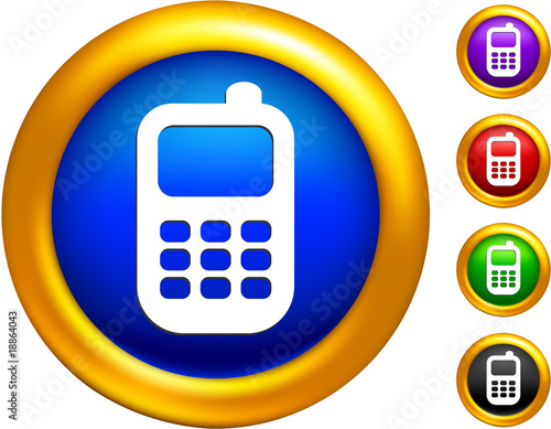 cell phone icon. cell phone icon on buttons
