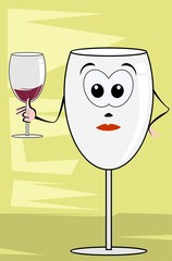 Illustration of goblets of drinks