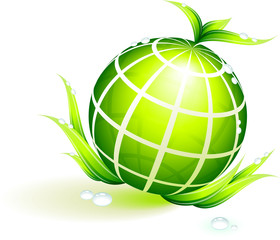 Globe Green Environmental Conservation Background
