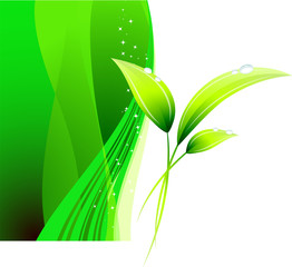Green Environmental Conservation Background