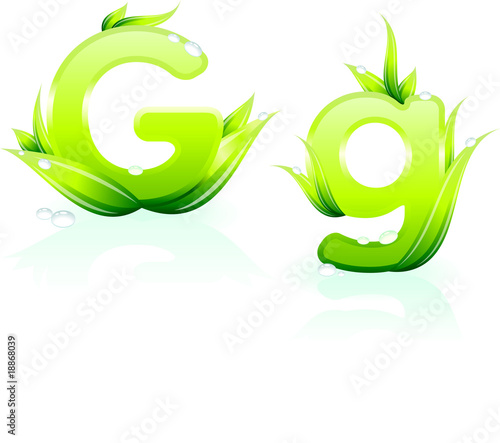 letter G for Green Environmental Conservation Background