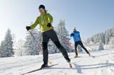 Fototapety Langlaufen im Winter