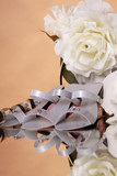Wedding favors and white rose bouquet poster