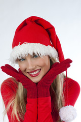 Beautiful Santa Claus girl