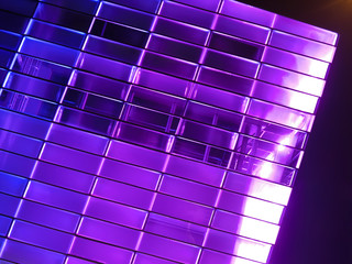 Fassade in Violett