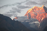 sunset in Himalayas poster