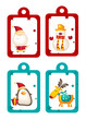 Christmas holiday tags vector illustration