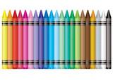 Fototapety rainbow crayon