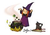 Fototapety Hexe, Witch, Halloween, Karneval, Fasching, Verkleidung
