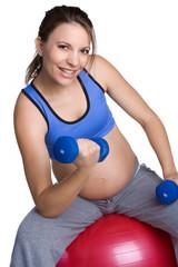 Fit Pregnant Woman