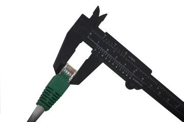 Measure bandwidth with caliper