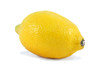 fresh yellow lemon isolated over white