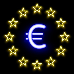 Euro And Star Symbol