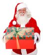 Santa with a gift