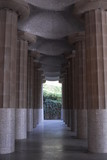 Colonnade in Guell Park, Barcelona, Spain