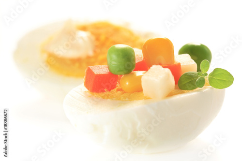garnish hard-boiled egg
