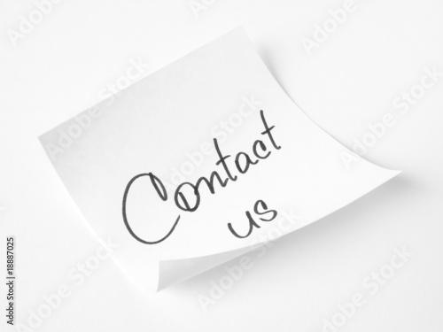 contact us handwritten message