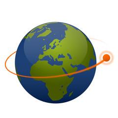 Globe with Satellite