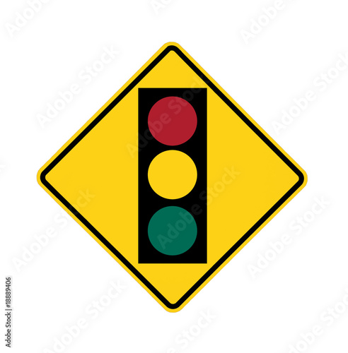 road sign - traffic light