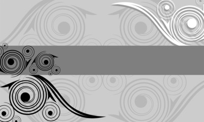 Illustration of art abstract picture in grey colour