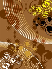 Illustration of art abstract design in brown colour