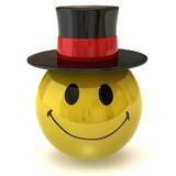 smiley gentleman poster